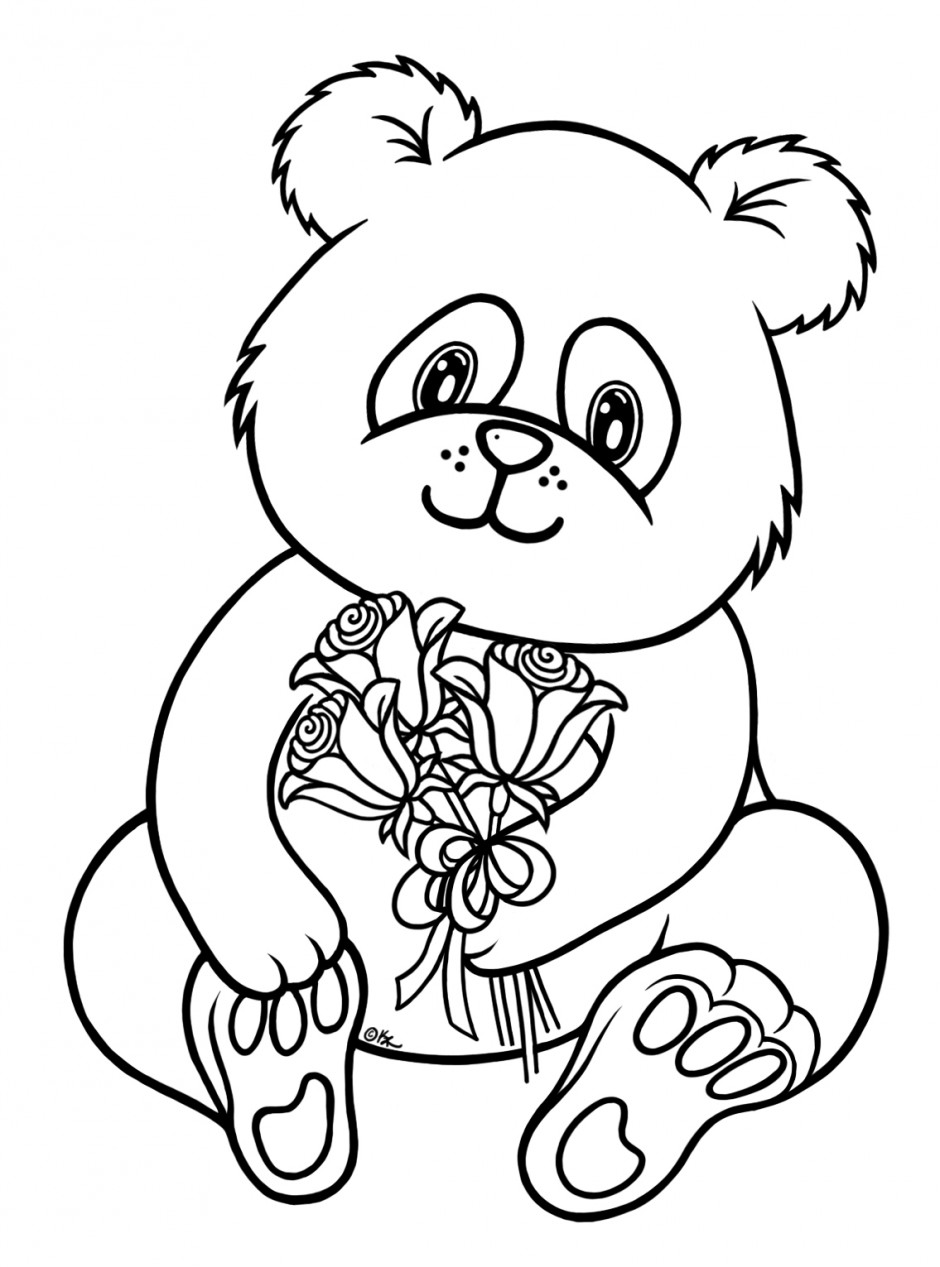 940x1267 Insider Panda Bear Coloring Pages Line Drawing