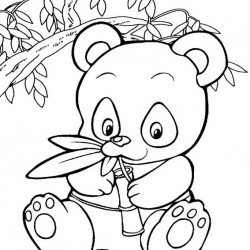 250x250 Nice Panda Bear Coloring Pages Printable Giant Page Zoo Animals