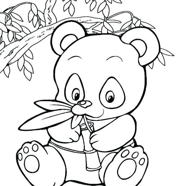 567x600 Panda Bear Coloring Page Coloring Picture Of Panda Bear Panda
