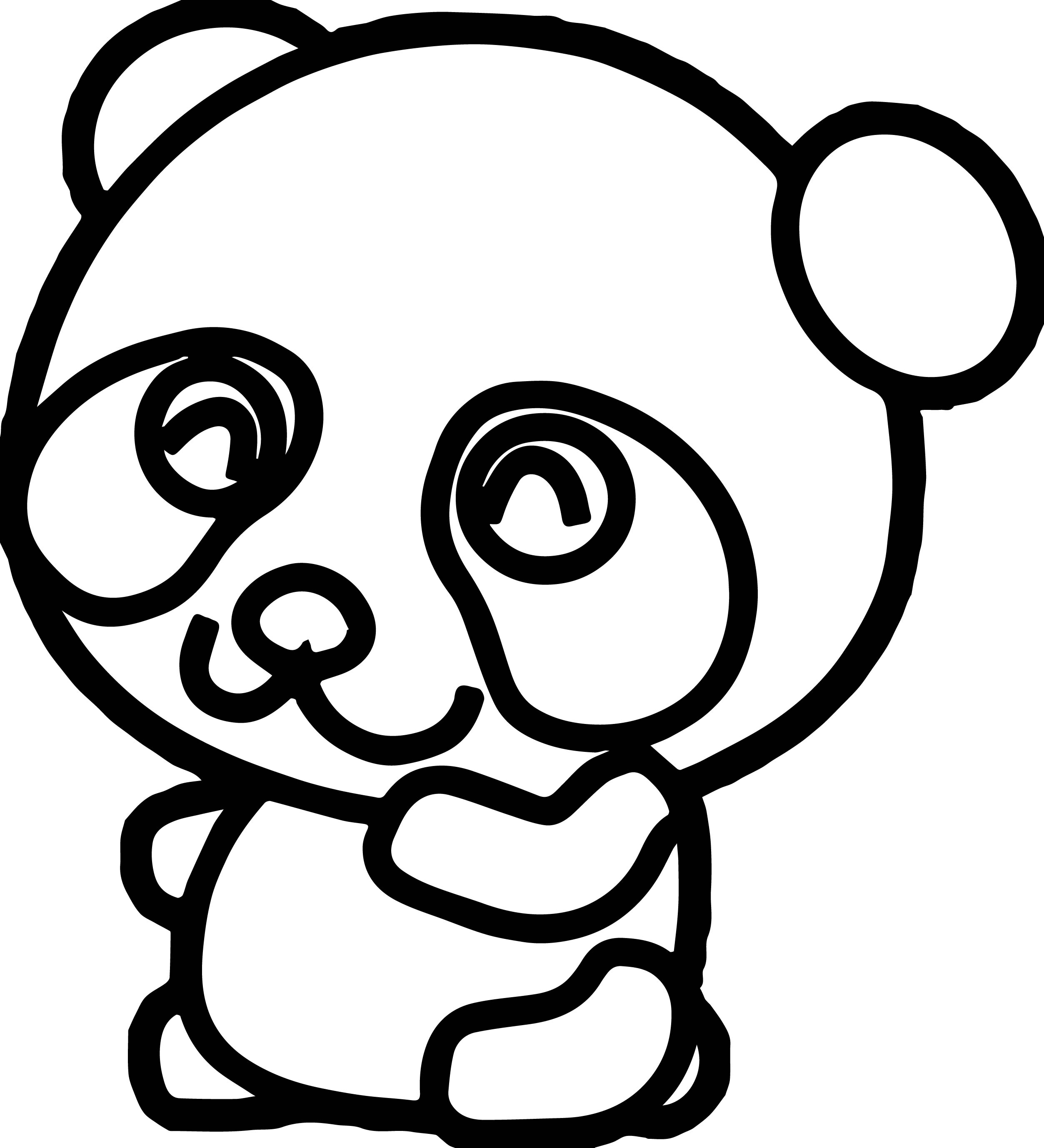 2506x2756 Panda Coloring Pages Inspirational Cute Panda Bear Coloring Page