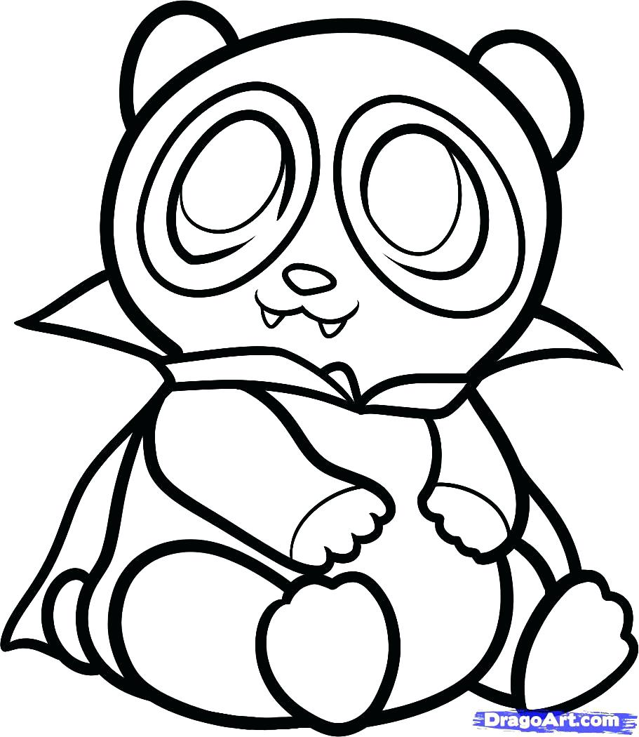 911x1050 Suddenly Panda Bear Coloring Pages Cute Baby O
