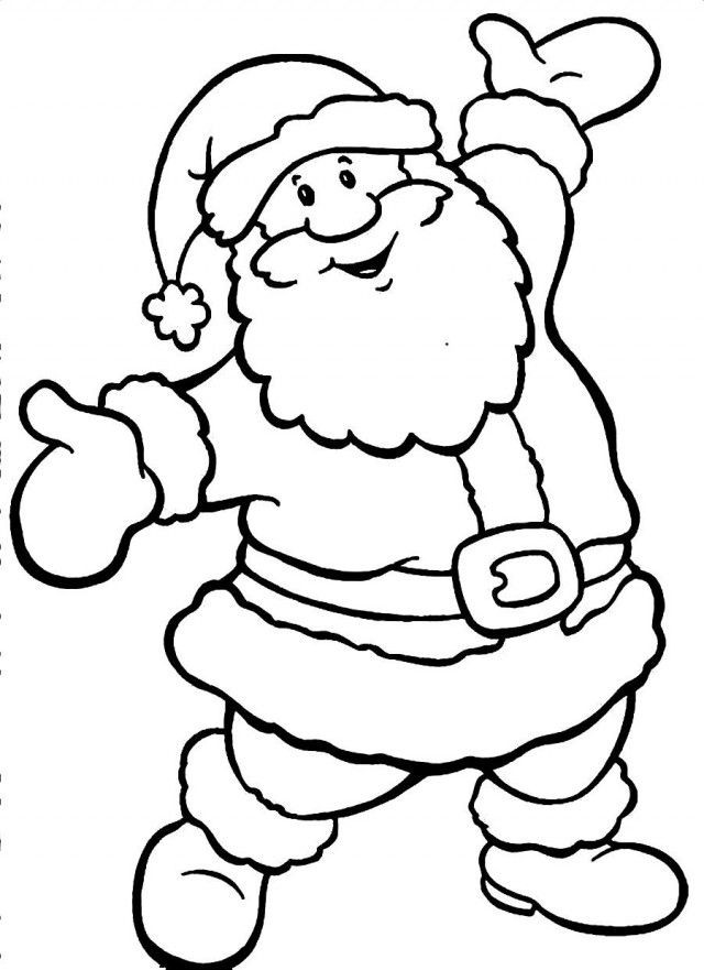 Cute Santa Claus Coloring Pages