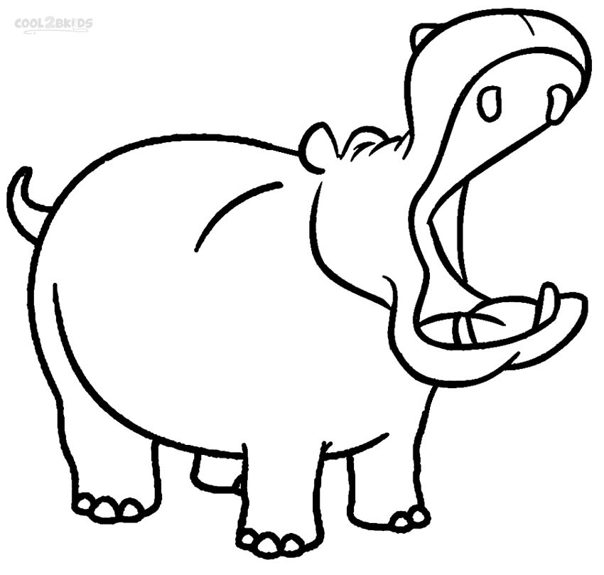850x809 Cute Zebra Coloring Pages Best Of Printable Hippo Coloring Pages