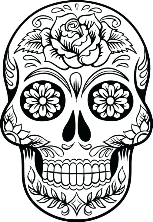 Day Of The Dead Coloring Pages Pdf