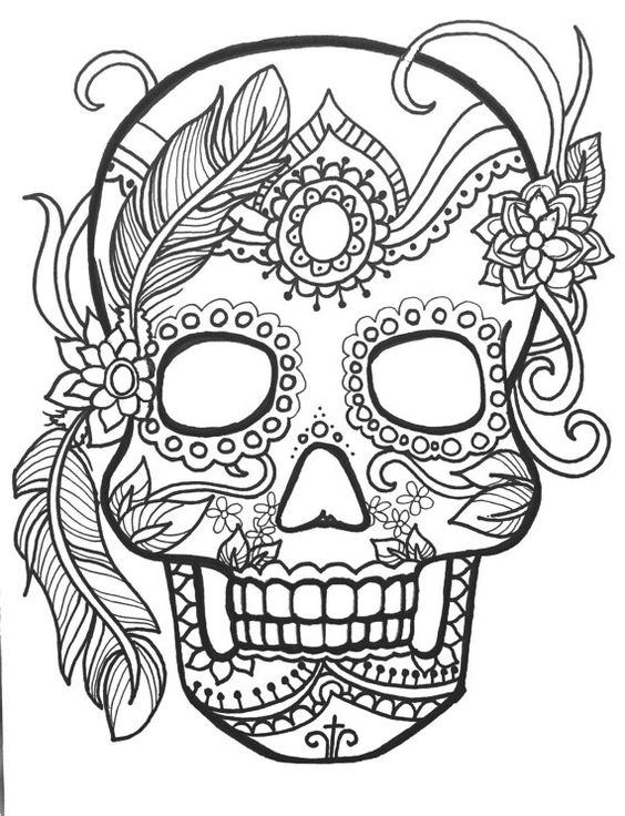 Day Of The Dead Skeleton Coloring Pages