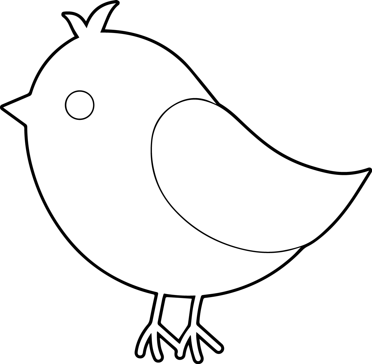 1252x1224 Bird Coloring Pages For Preschoolers