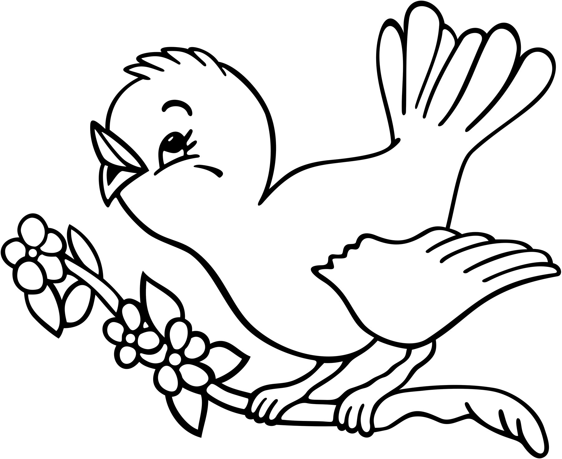 1802x1471 Coloring Pages Birds