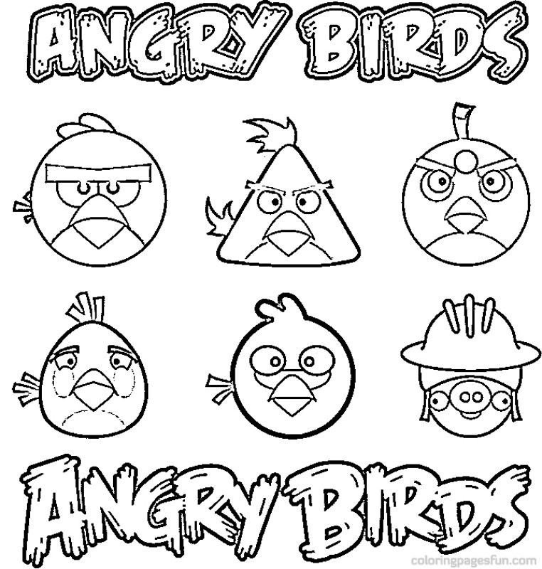 762x800 Angry Birds Coloring Pages (8) Coloring Kids