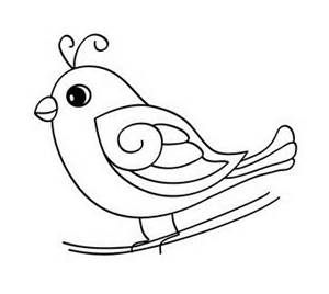 300x268 Baby Bird Coloring Pages