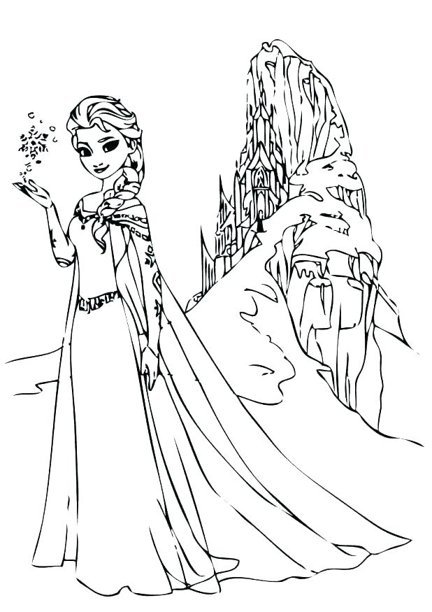 618x875 disney frozen coloring pages free