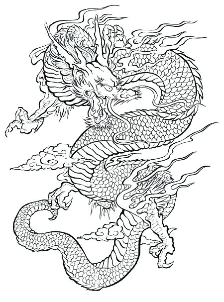 450x607 Dragon Coloring Pages Adults Good Dragon Coloring Pages