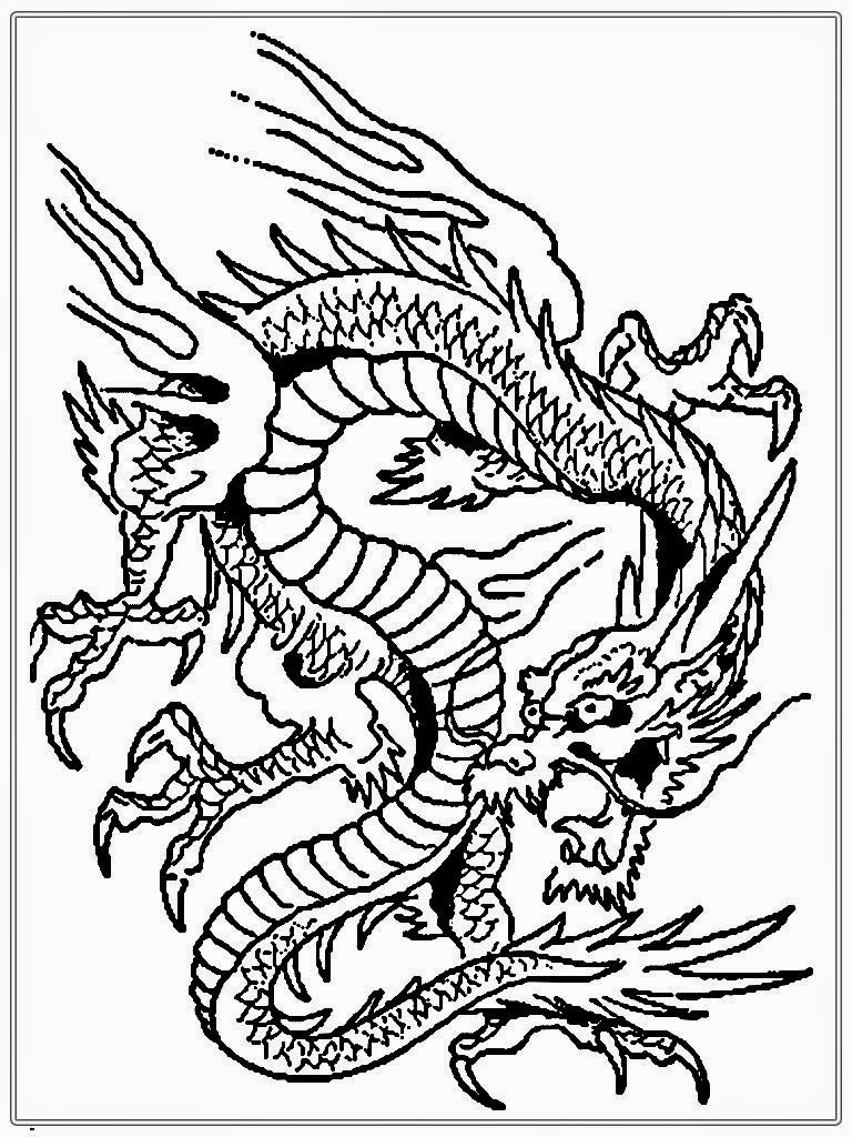 768x1024 Dragon Coloring Pages For Adults6 In Adults Difficult Dragons
