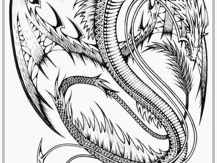 440x330 45 Coloring Pages Dragon, Detailed Dragon Coloring Pages Coloring
