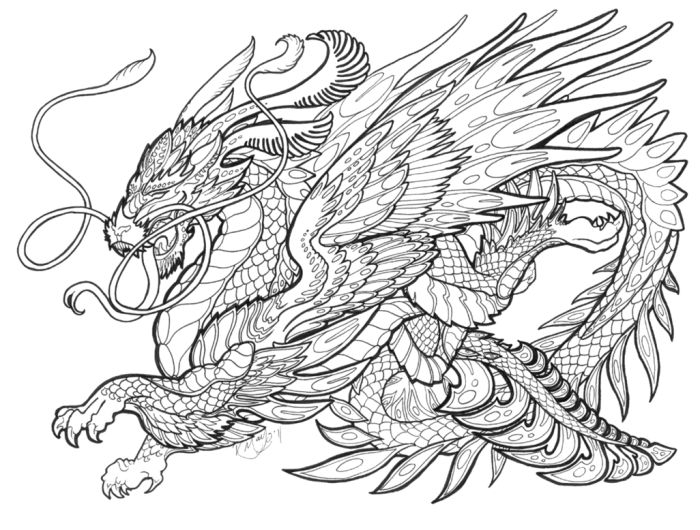 700x530 Wondrous Design Dragon Coloring Pages For Adults 57 Best Lineart