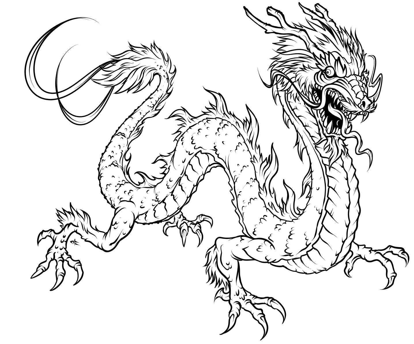 1436x1192 Best Dragon Coloring Pages For Adults To Download Free 1012