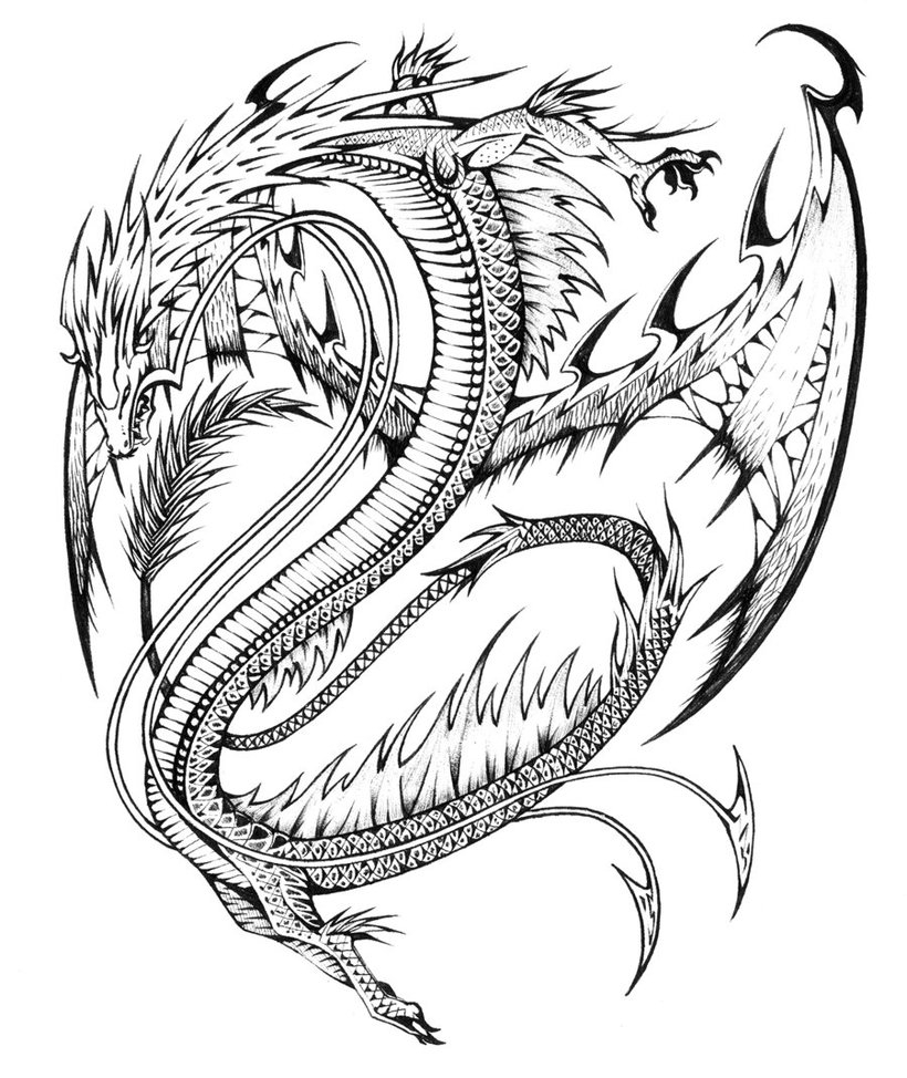 820x974 Best Of Adult Coloring Pages Dragons Fairies Mermaids Collection