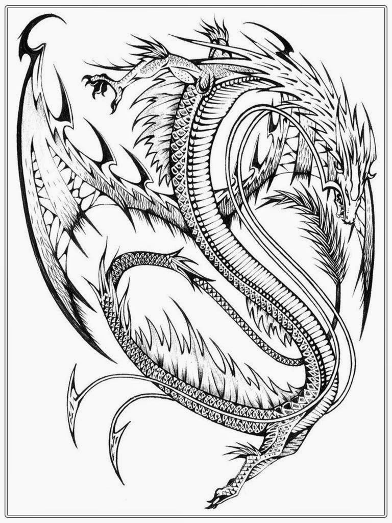 768x1024 Chinese Dragon Adult Coloring Pages Realistic Coloring Pages
