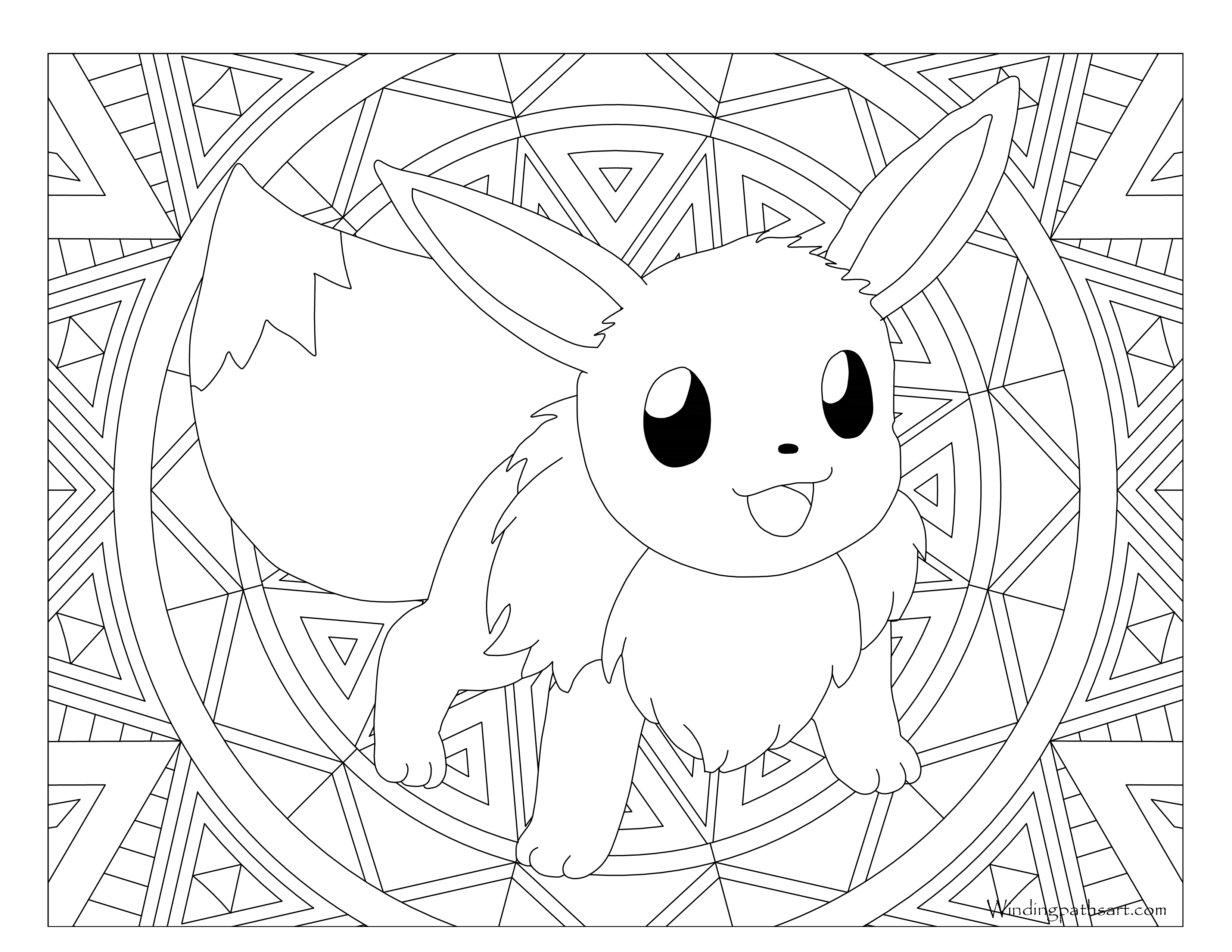 Eevee And Pikachu Coloring Pages