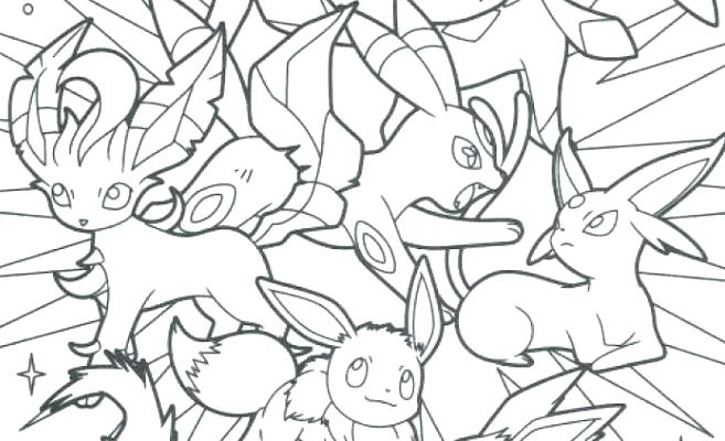 657x400 Eevee Evolutions Coloring Pages Coloring Pages Coloring Pages All