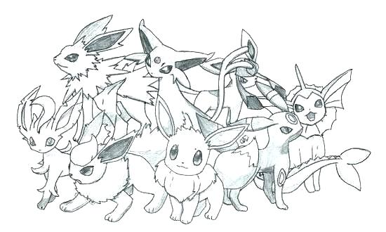 550x330 Pokemon Coloring Pages Eevee Evolutions Glaceon Printable Sheets