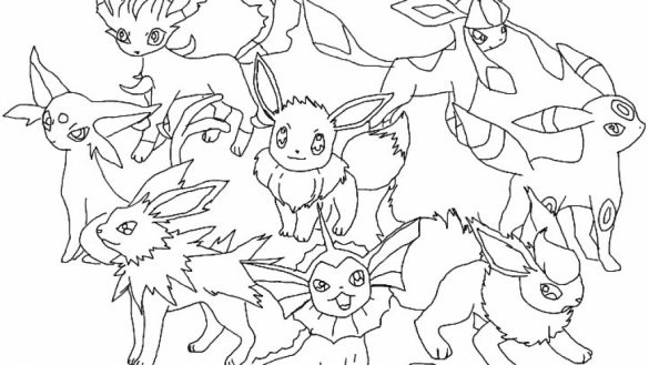 585x329 Pokemon Evolution Coloring Pages