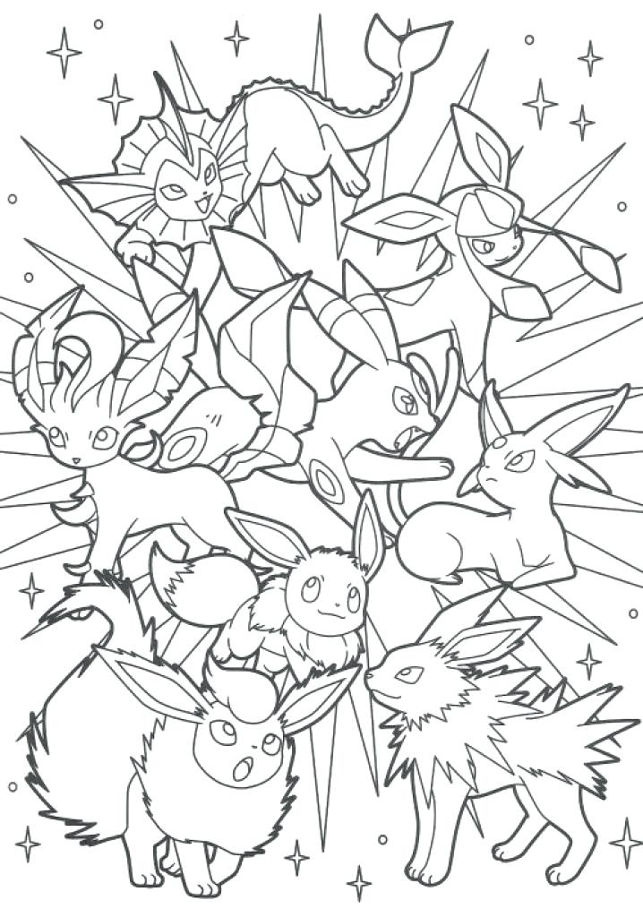 718x1024 Breakthrough Pokemon Coloring Pages Eevee Evol
