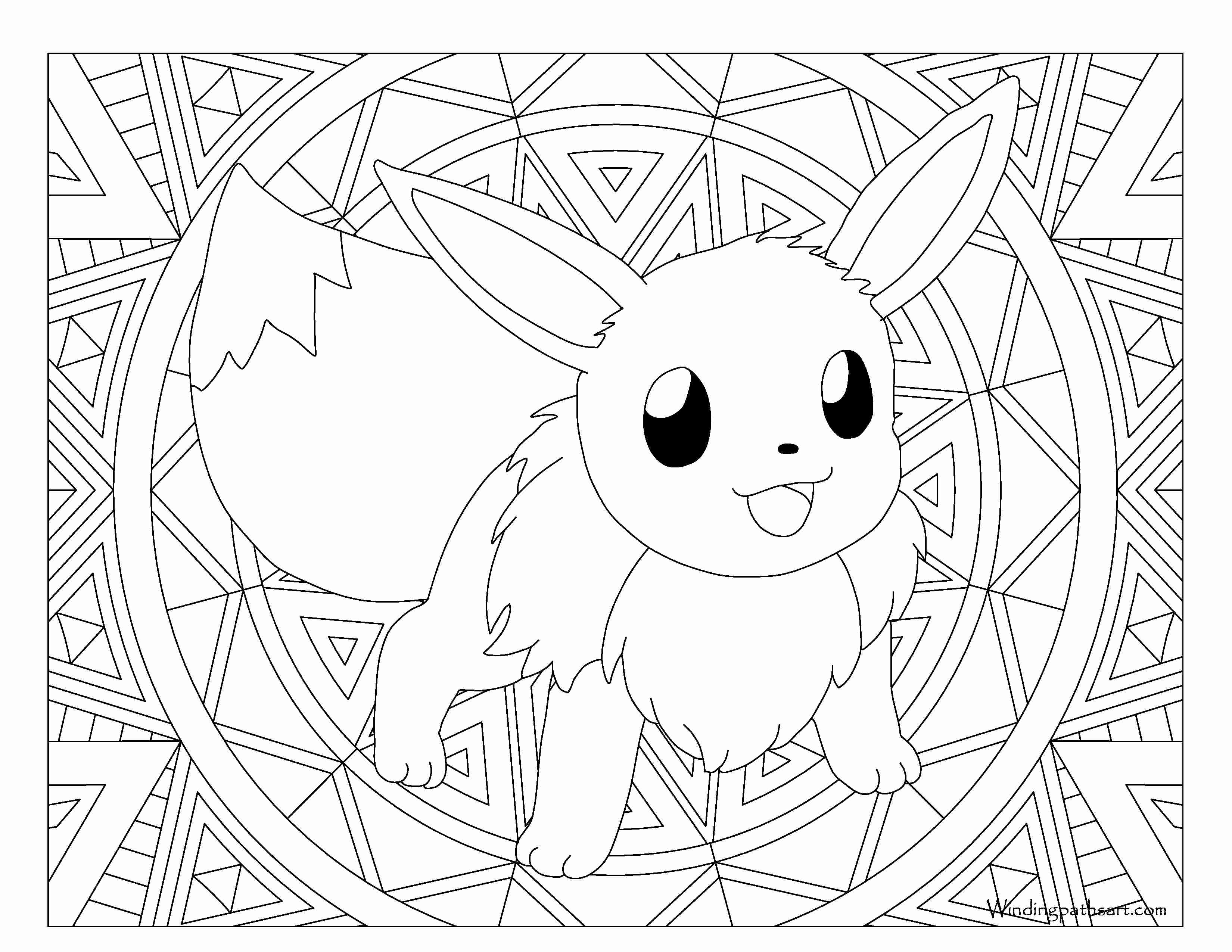 3300x2550 Coloring Pages Pokemon Eevee Evolutions All 133 Extraordinary