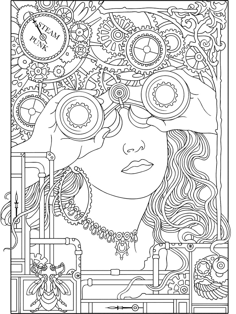 Face Coloring Page For Adults