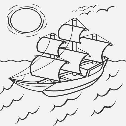 500x500 Mayflower Coloring Page Unique Mayflower Coloring Page Painting