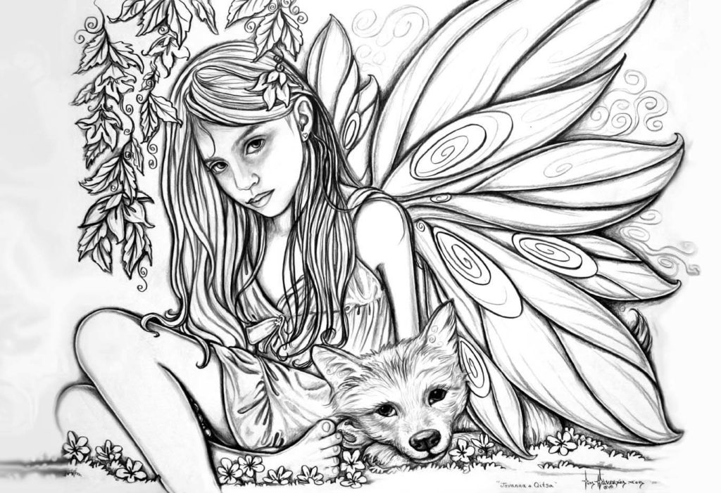 Fairy Adult Coloring Pages
