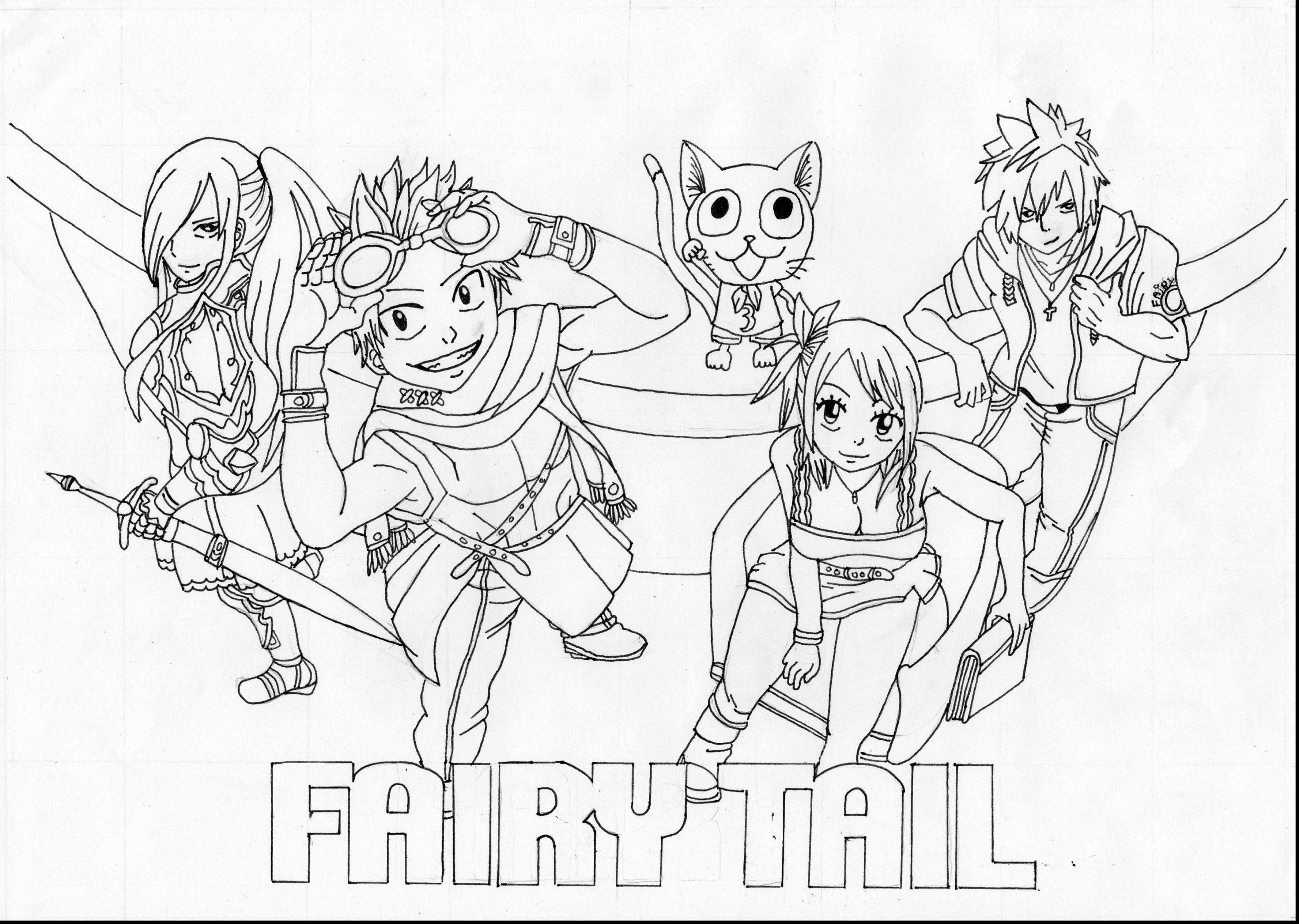 3774x2685 Fairy Tail Coloring Pages 1815 1300 High Definition