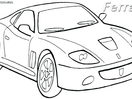 440x330 Ferrari Coloring Pages Cars Car To Download And