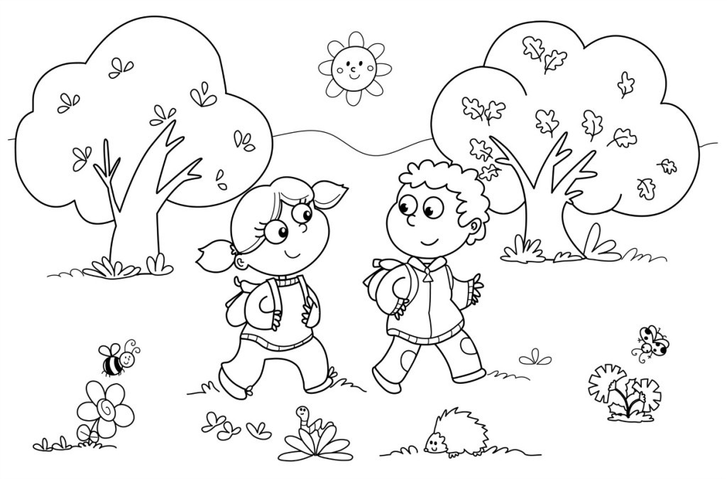 First Day Of Preschool Coloring Pages