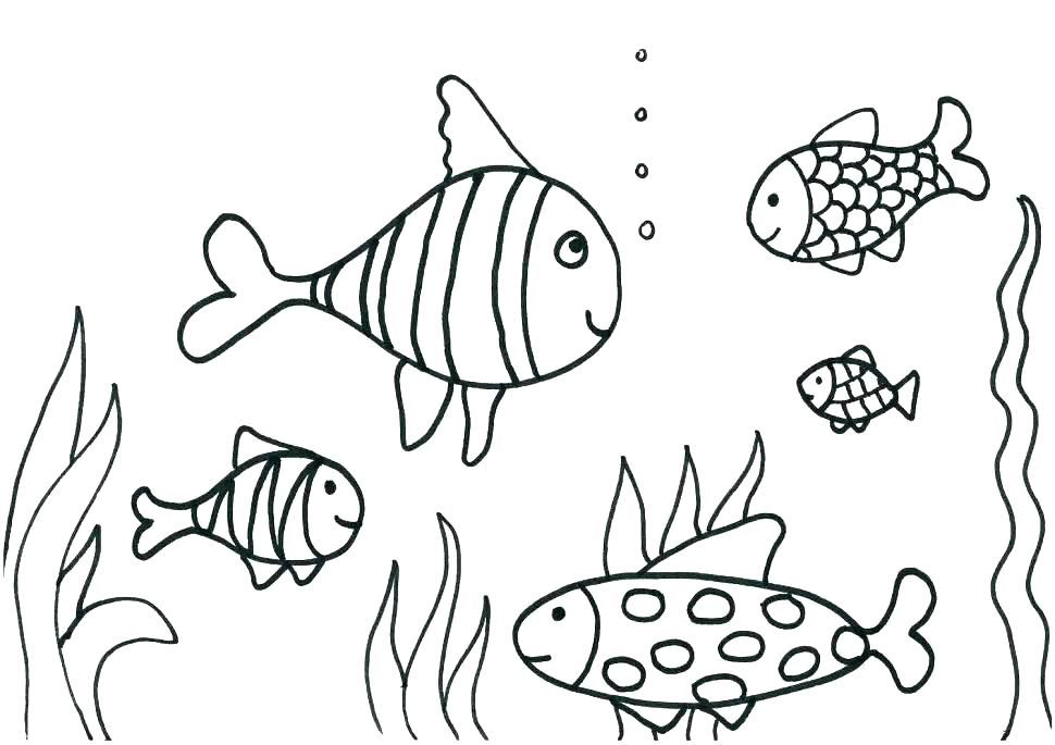 Fish Tank Coloring Page at GetColorings.com | Free printable ...