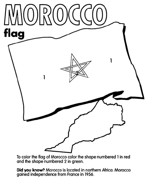 Flags Of The World Coloring Pages Free