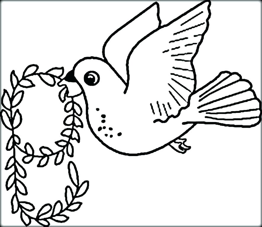 886x768 Bird Coloring Pages To Print Flying Bird Coloring Page Birds