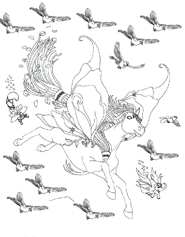 600x768 Bird Flying Coloring Page Impair.co