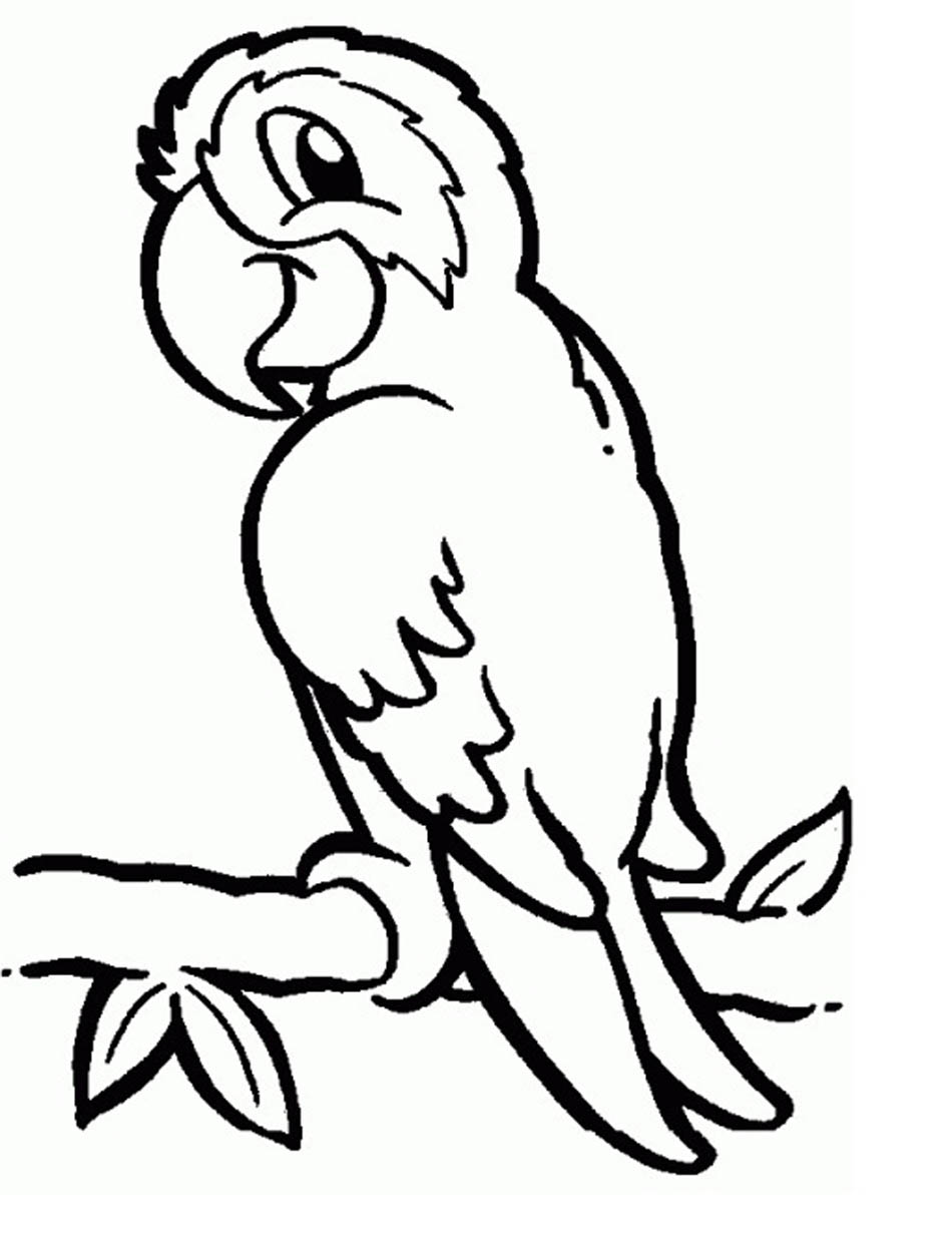 950x1241 Coloring Pages Of Parrots