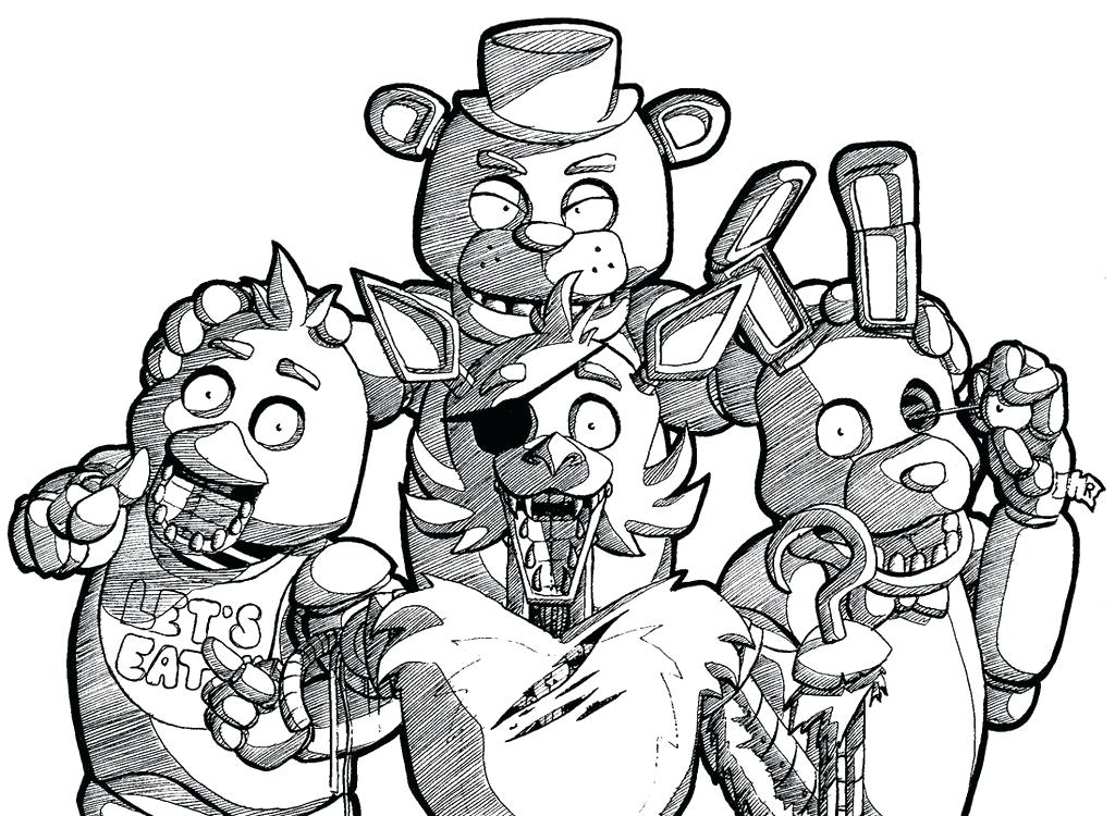 1024x750 Fnaf Coloring Pages Online 2 Stock Colouring Free