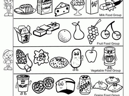 440x330 32 Food Group Coloring Pages, Cute Food Coloring Pages Food Group