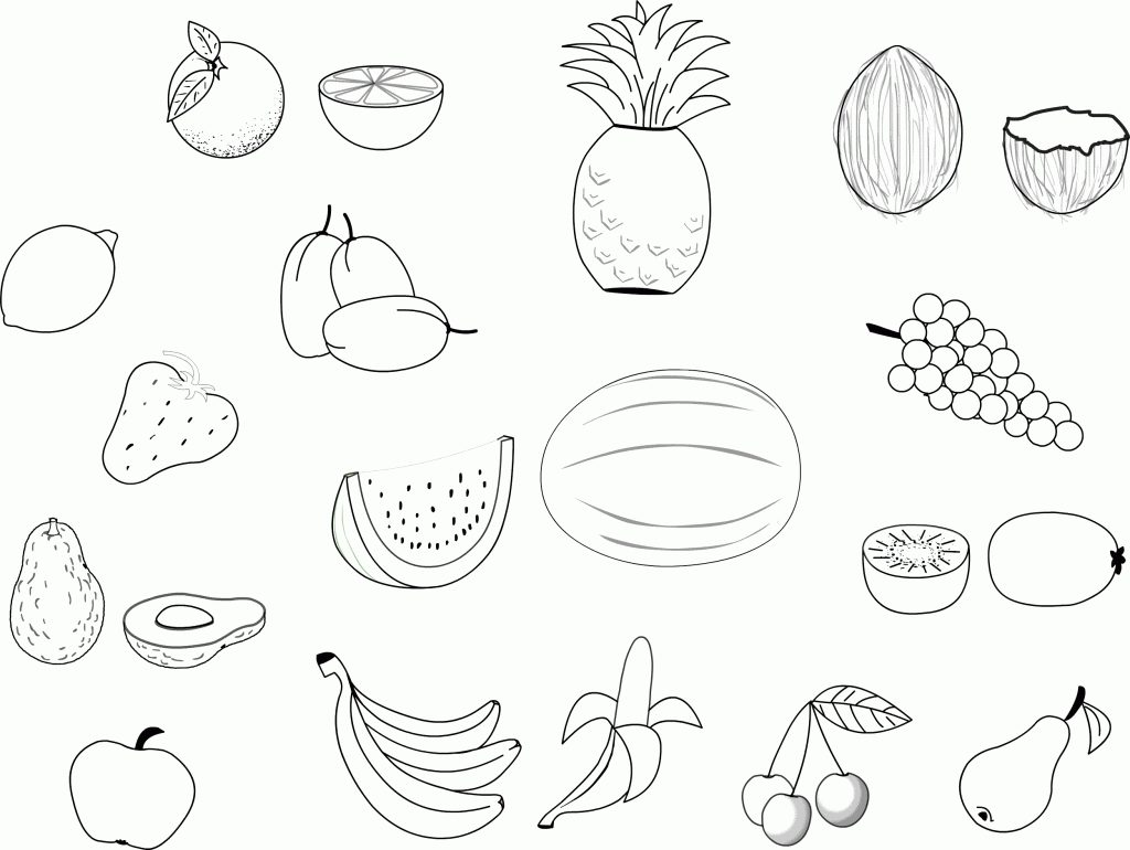 1024x770 Food Groups Coloring Pages