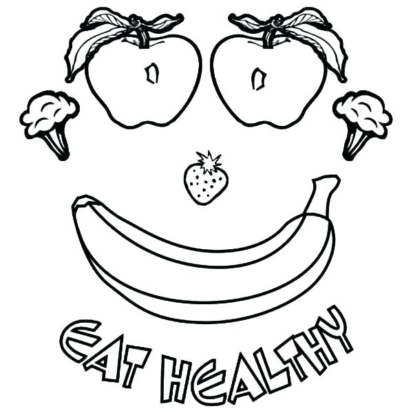 600x600 Food Groups Coloring Pages Coloring Picture Of Food Good Healthy