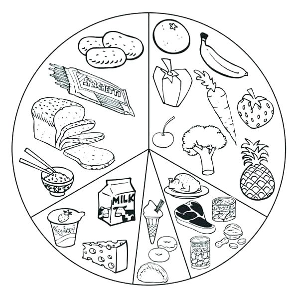 600x601 Food Groups Coloring Pages Fresh And Foods List Healthy