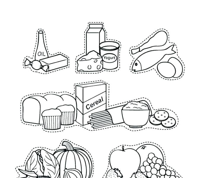 678x600 Approved Food Groups Coloring Pages Group Site Pyramid Sporturka