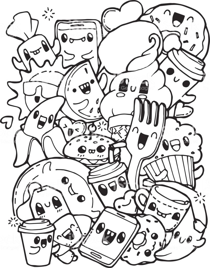 802x1024 Coloring Pages Food Best Coloring Book For Free Downloads