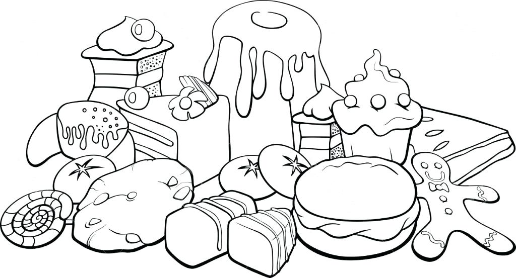 1024x553 Coloring Pages Food Food Pyramid With Healthy And Fresh Coloring