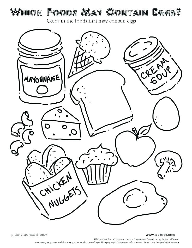 736x952 Coloring Pages Of Food X Coloring Pages Food Groups Coloring Pages