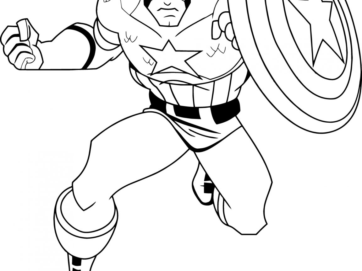 Free Captain America Coloring Pages At GetColorings.com