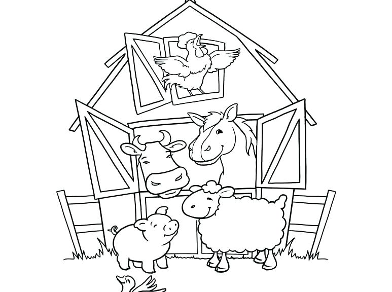 773x576 Farm Coloring Pages For Preschool Preschool Farm Coloring Pages