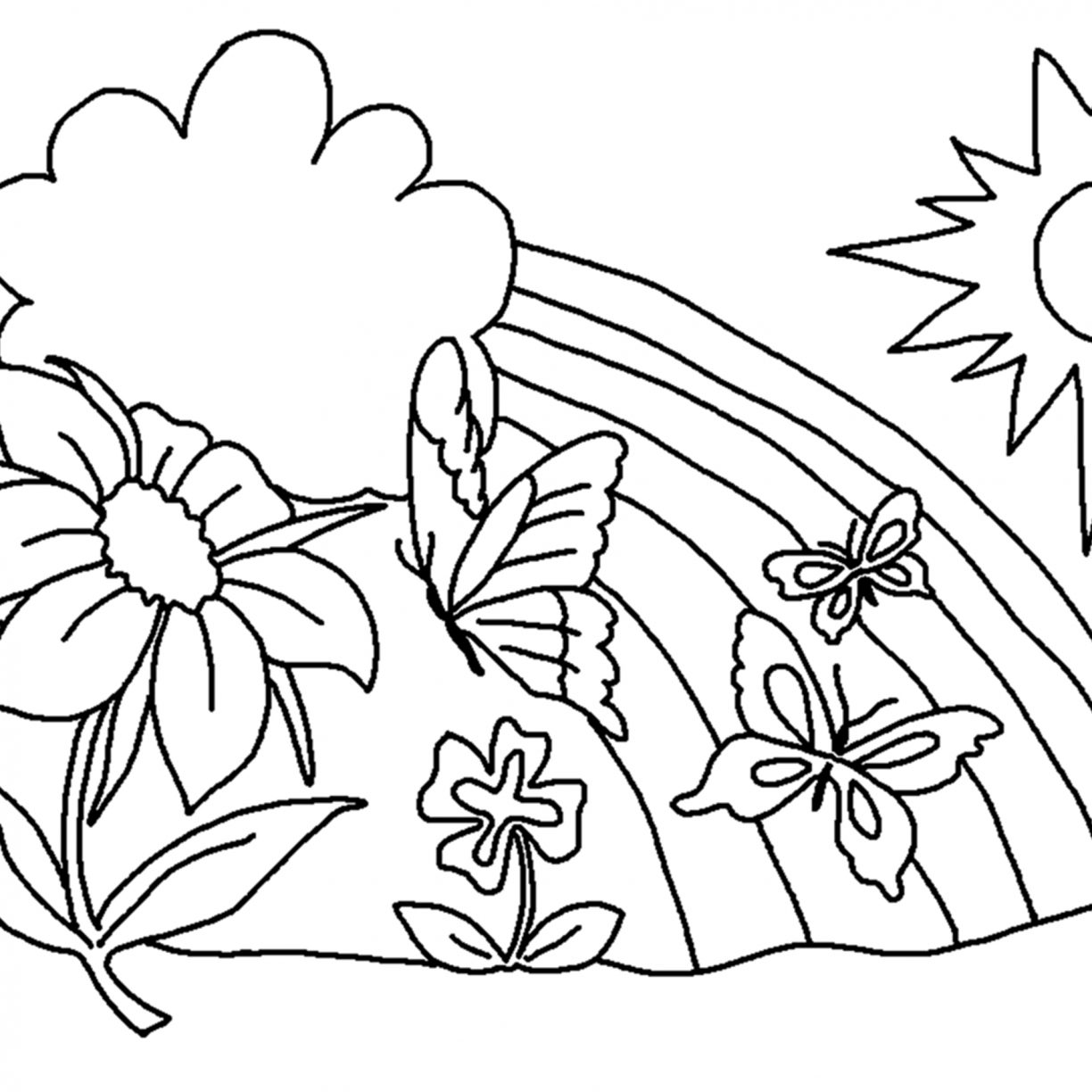 1224x1224 Free Printable Preschool Coloring Pages Things That Are For Kids